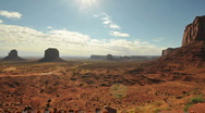 Stock Video Footage of Monument Valley Mesa Time Lapse - Pretty