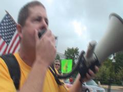 Tea Party Rally to Eject Democrats Stock Footage
