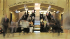Grand Central Station Crowds - Clip 7 Stock Footage