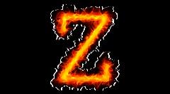 Fire letter Z HD - stock footage