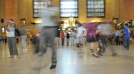 Grand Central Station Crowds - Clip 6 Stock Footage