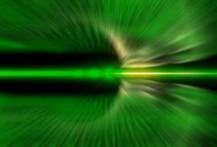 Green Fanned Streaks Stock Footage