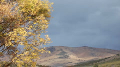Autumn storn over mountain P HD 0898 Stock Footage