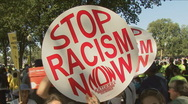Stock Video Footage of Stop Racism