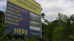 Arenal Volcano Sign Stock Footage