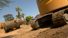 Bulldozer and road construction :15 PT 2 Stock Footage