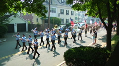 Memorial Day Parade Stock Footage
