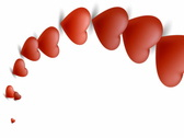 Abstract 3D Hearts Stock Footage