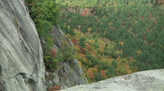 Cliff in White Mountains, NH Stock Footage