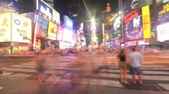 New York Times Square crowd timelapse Stock Footage
