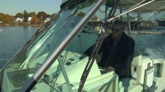 Pan from boat to Bow Stock Footage