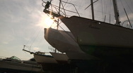 Stock Video Footage of View of Yachts in Portland Maine