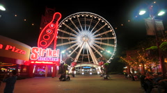Ferris Whell at Night Clip 2 Stock Footage