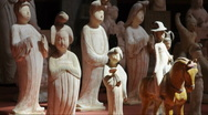 Stock Video Footage of Ancient palace maid Sculpture in china
