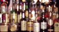Wide Shot Whiskey Bar Bottles Footage