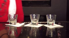 Bar shots Stock Footage
