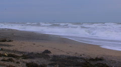 Seascape in a storm Stock Footage