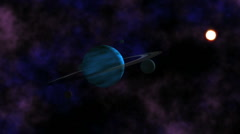 Gas Giant with moons - stock footage