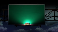 Blank Road Sign Night 1940 Stock Footage