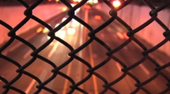 Stock Video Footage of NY Fence time lapse