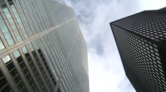 High angle, bank buildings on Bay Street Stock Footage