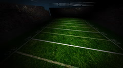 Football Field Rotating - stock footage