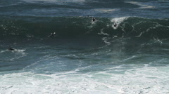 Huge Surf / Surfing Slo motion Stock Footage