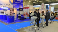 Medical exhibition Stock Footage