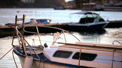 Excursion boats Stock Footage