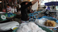 Vietnamese Noodle Maker Hoi An Stock Footage