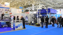Medical exhibition - stock footage