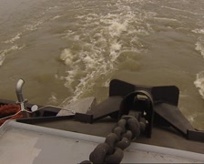 Inland Shipping Stern Motor Water Stock Footage