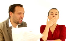 Couple arguing about financial troubles - stock footage