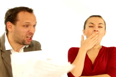 Couple arguing about financial troubles  Stock Footage