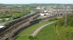 Channel Tunnel train starting its journey to France Stock Footage