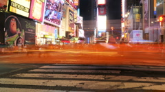 NYC Times Square Time Lapse - New Clip 4 Stock Footage