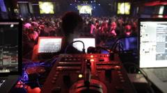 Vj mixer and dancefloor Stock Footage