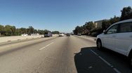 Time lapse of Driving in Los Angeles Day - Part 1 Stock Footage