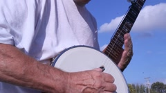 Tune a Banjo - stock footage