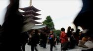 Sensouji Temple in Asakusa - Tokyo, Japan Stock Footage