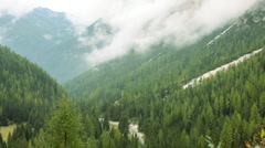 Mountains and Alpine Valleys, Italian Dolomites, Italy Stock Footage