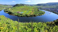 The Town of Bremm, on the River Mosel Germany, Europe Stock Footage