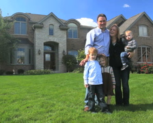 Family and House 6 Stock Footage