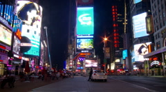 NYC Times Square Time Lapse - New Clip 1 Stock Footage