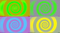 Pop Art Retro Swirl Stock Footage