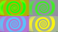 Stock Video Footage of Pop Art Retro Swirl