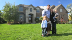Family and House 5 Stock Footage