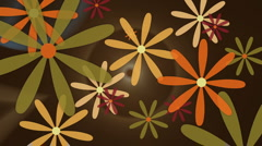 Retro Flowers animated background Stock Footage