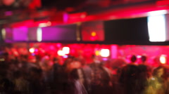 timelapse of crowd in club dance night - stock footage