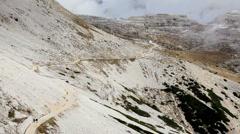 Lavaredo nr Hisurina, nr Cortina d Ampezzo, Dolomites Italy Stock Footage